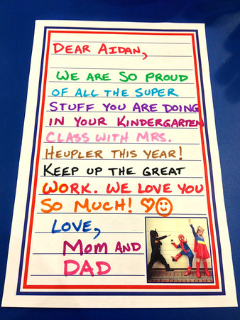 Back To School Note for Aidan 09/12/13