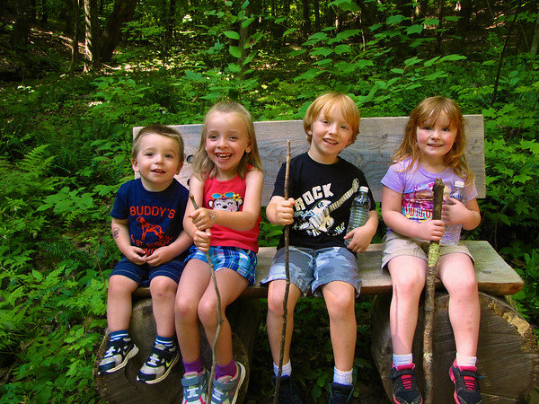 Byrne & Pearce Families Hike to Heublein Tower 07/29/14